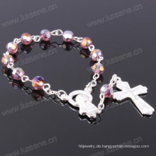 Mehrfarbige 6mm Winkel Kristall Perle Mode religiösen Armband