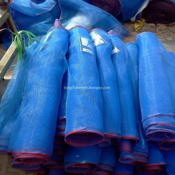 Blue Woven Net Dengan White Red Edge