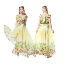 Premium-Material Polyester breiten Bereich Größe Frauen Mode gedruckt Blumen Abendkleid