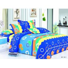 Tissu Imprimé en Polyester Disperse de Style Bleu