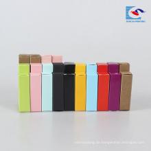 Kraftpapier-Lippenstift-Verpackungskasten mit gedrucktem Logo
