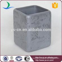 Luxury marbled skin design ceramic bath accessories tumbler