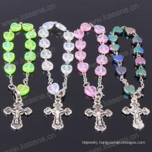 Charm Ivory Heart Plastic Bead Catholic Decade Rosary
