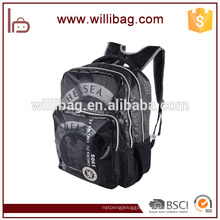 Wholesale Durable Lightweight Black Canvas Backpack School Bag for Student