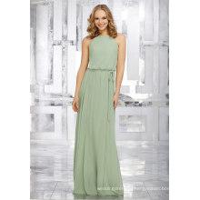 Green Chiffon A Line Bridal Gown Bridesmaid Dresses