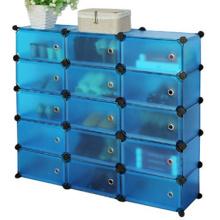Cubierta plástica de 15 cubos vendedores calientes del gabinete de almacenaje funcional