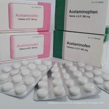 Comprimidos de paracetamol