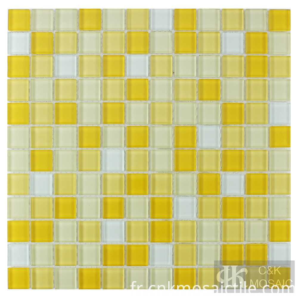 Glass Mosaic Tile Yellow