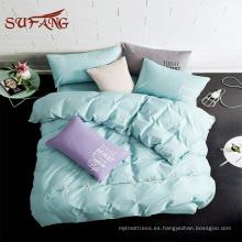 Juego de edredón / 1000TC 100% algodón botón decoración colores del arco iris hoja de cama
