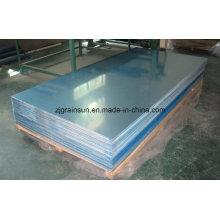 Feuille d'aluminium pour porte et enrouleur