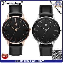 Yxl-467 2016 Hot Sale Design Promotional Men′s Watch High Quality Genuine Leather Ladies Watches Swiss Quartz Automatic OEM Watch Clock