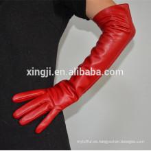 guantes de calidad superior guantes de cuero de señoras de piel de oveja larga