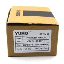 Yumo Cm24-3012PC Interruptor de proximidad Sensor de proximidad inductivo óptico Sensor capacitivo