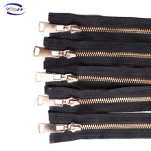 Wholesale factory price gold metal zipper for garments
