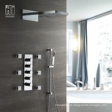 Misturador termostático de quatro funções para banheira e chuveiro