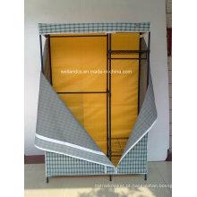 Portátil Non Woven Canvas DIY pano Armazenamento Wardrobe 4 prateleiras