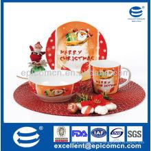 3 шт фарфоровые рождественский ужин пластины для детей