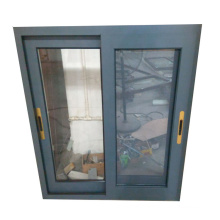 80 Series  Grey Color of Aluminum Sliding Window with Mosquito Mesh