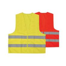 Gelbe Reißverschluss-Sicherheitsweste mit hoher Sichtbarkeit