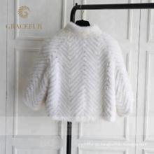 Guter Preis Damen Luxus Real Nerz Pelzmäntel zu verkaufen