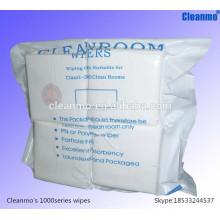 Производитель одноразовой безворсовой чистой комнаты полиэфира промышленные чистящие салфетки