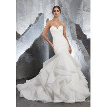 Organza Mermaid Prom Dress Bridal Wedding Gowns (5604)