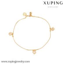 Pulseira generosa da mulher da venda quente da forma da jóia 73924-Xuping com o ouro 18k chapeado