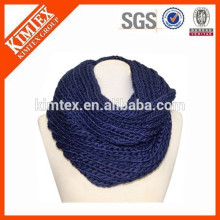 wholesale warm new style fashion winter knitted infinity scarf