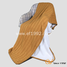 High Quality Cotton Sherpa Composite Knitted Winter Blanket