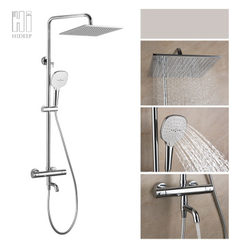 Wall Mount Bathroom Thermostatic Shower Mixer Set