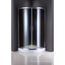 Portes coulissantes en verre trempé de cabine de douche de Sanitary Ware