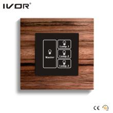3 Gangs Lichtschalter Touch Panel mit Hauptsteuerung (HR1000-WD-L3M)