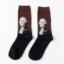 2019 Summer  New Art and Famous Oil Painting Series Male Socks Personality Funny Socks