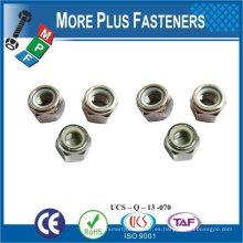 Fabricado en Taiwán M5-0.8 DIN 980 Grado A2 de acero inoxidable Top Lock Nut