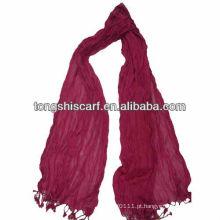 tricotar inverno longo dobra lenço vermelho