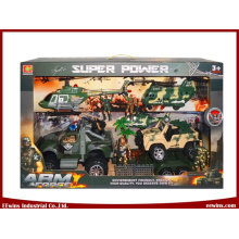 Educational Toys DIY Military Toys Sets with Helicopter, Transport Plane and Friction Jeep Toys