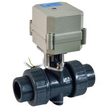 Intelligente elektrische Aktuator PVC-Ventil Elektrische Durchflussregelung PVC-Wasser-Kugelhahn (A100-T25-P2-C)