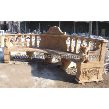 Stone Marble Antique Garden Chair for Garden Ornament (QTC033)