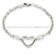 Bijoux Fashion Stainless Steel Polished Oval Cut-out Bracelet Vners Fabricant