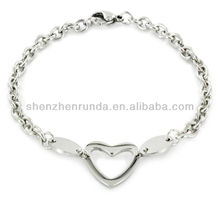 Jewelry Fashion Stainless Steel Polished Oval Cut-out Bracelet Vners Manufacturer