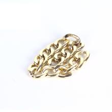Wholesale custom designer light golden for wallet gold metal gold decorative chain aluminum chain custom bag chain