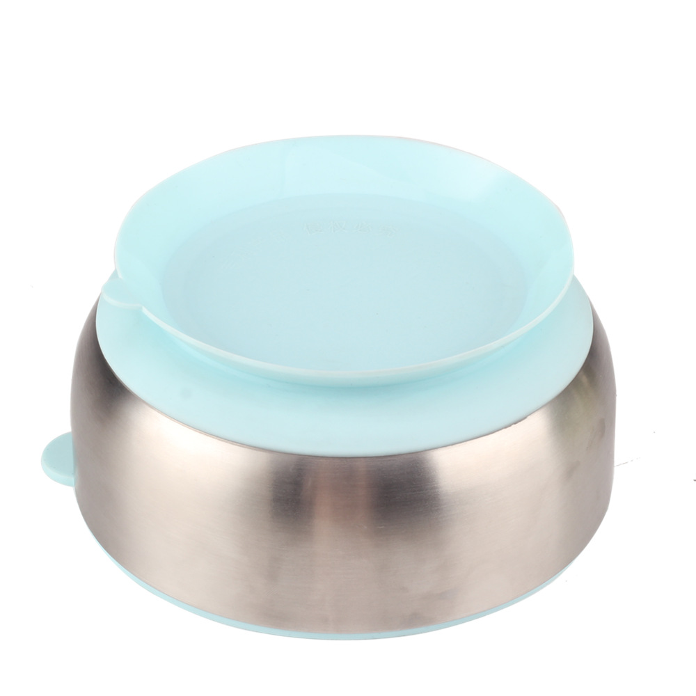 Silicone Base Stainless Steel Baby Bowl
