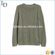 Jersey de calidad superior del suéter de la fábrica del diseño 100% algodón de los hombres