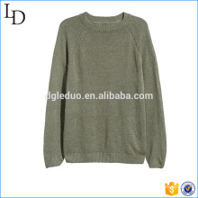 Camisola 100% dos homens do algodão da fábrica superior da camisola da qualidade do projeto