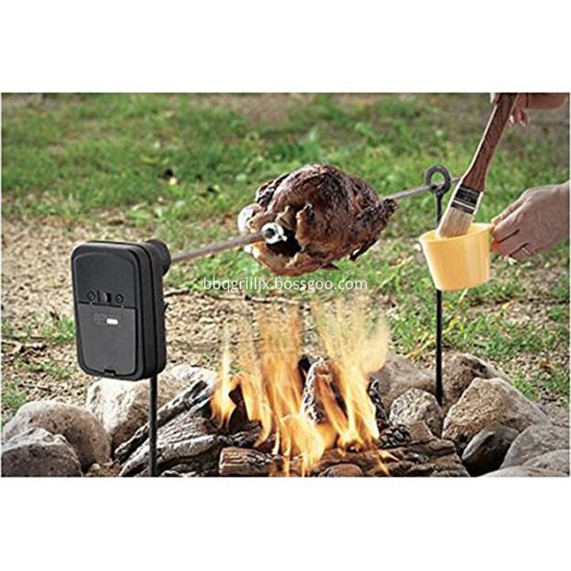 Campfire Rotisserie System For Grills Firepits