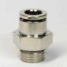 Adaptateur mâle BSPP fil pneumatique Metal-pousser-dans-accessoires
