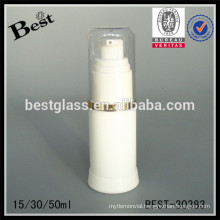 15/30/50ml cylinder opaque airless bottle with pump and cap,airless serum bottle, acrylic cosmetic airless bottle