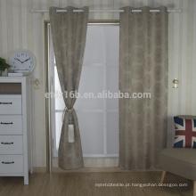 Nova chegada Modern Breve estilo 100% poliéster Dandelion Jacquard cortina e tecido de cortina
