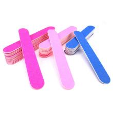 Cheap Dark Pink Mini Sizes Finger Nail Double Sided Polishing Wood Nail File