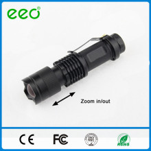 mini tactical rechargeable best led flashlight,focus zoom adjustable led flashlight,high power led torch light long distance